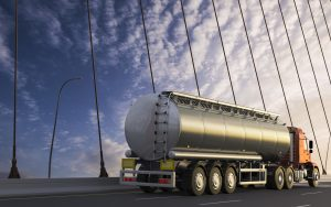 3D design tank truck, tanker truck, tanker with vivid colors